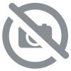 Wall decal blooming tree branch in red
